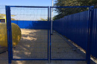 ворота металлические распашные