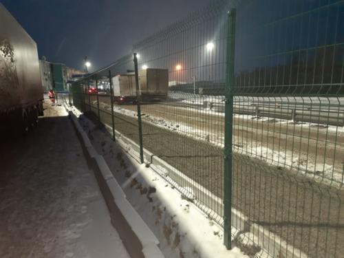 3д забор для автостоянки