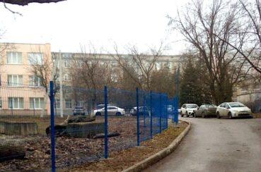 3д забор синего цвета